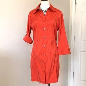 Antilia Femme Shirt Dress,  3/4 sleeves Size L